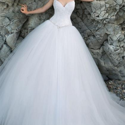 Lace Sweetheart Floor Length Tulle ..