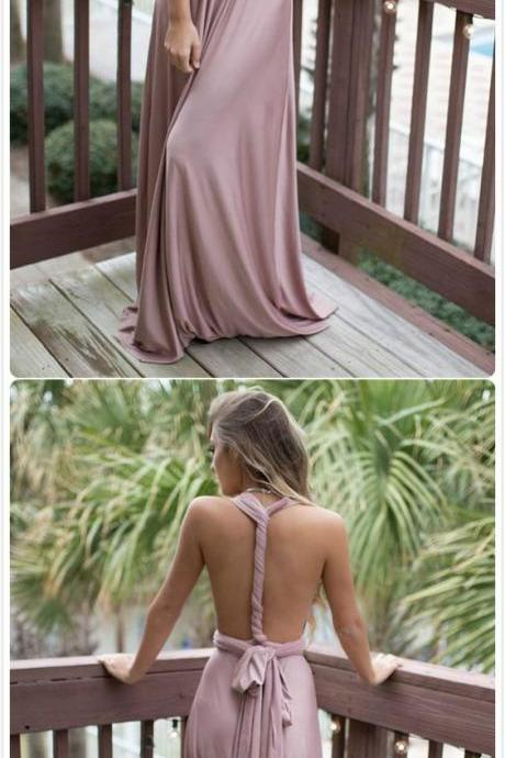 Open Back Floor Length Maxi Dress 2018 Prom Dress Long