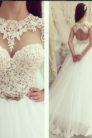 O-Neck Wedding Dresses
